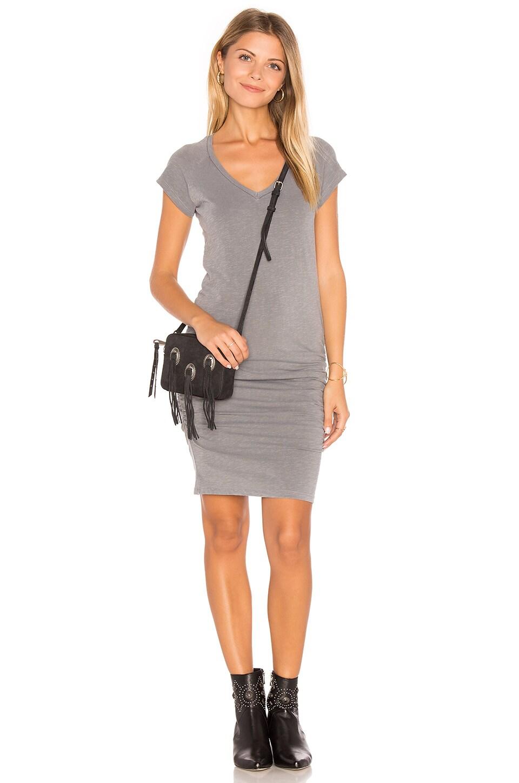 V-Neck Slub Spandex Dress by SUNDRY