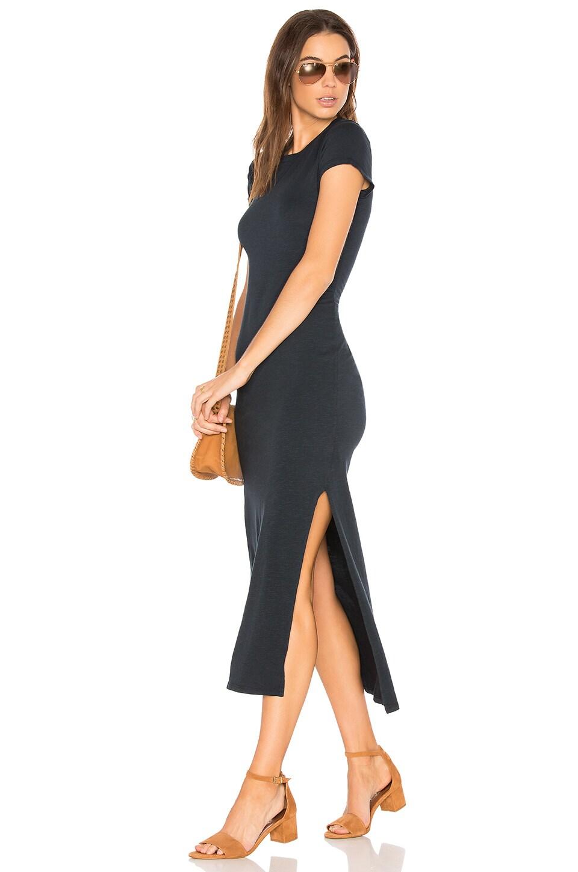 SUNDRY Short Sleeve Maxi Dress in Spring Black