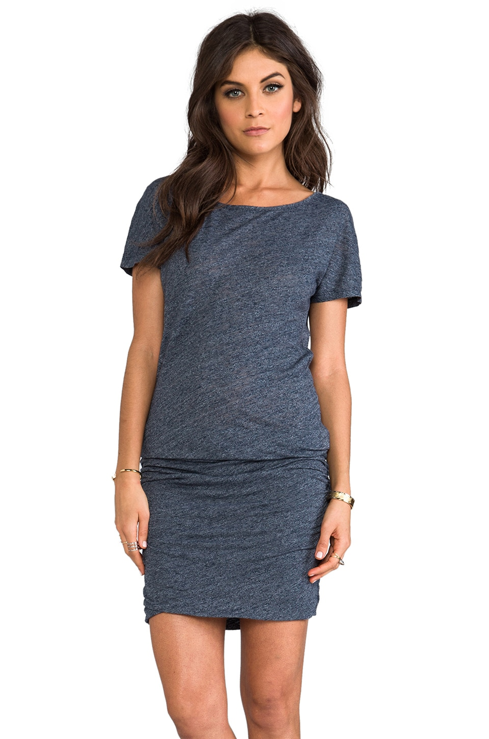 SUNDRY Boat Neck Dress in Marine