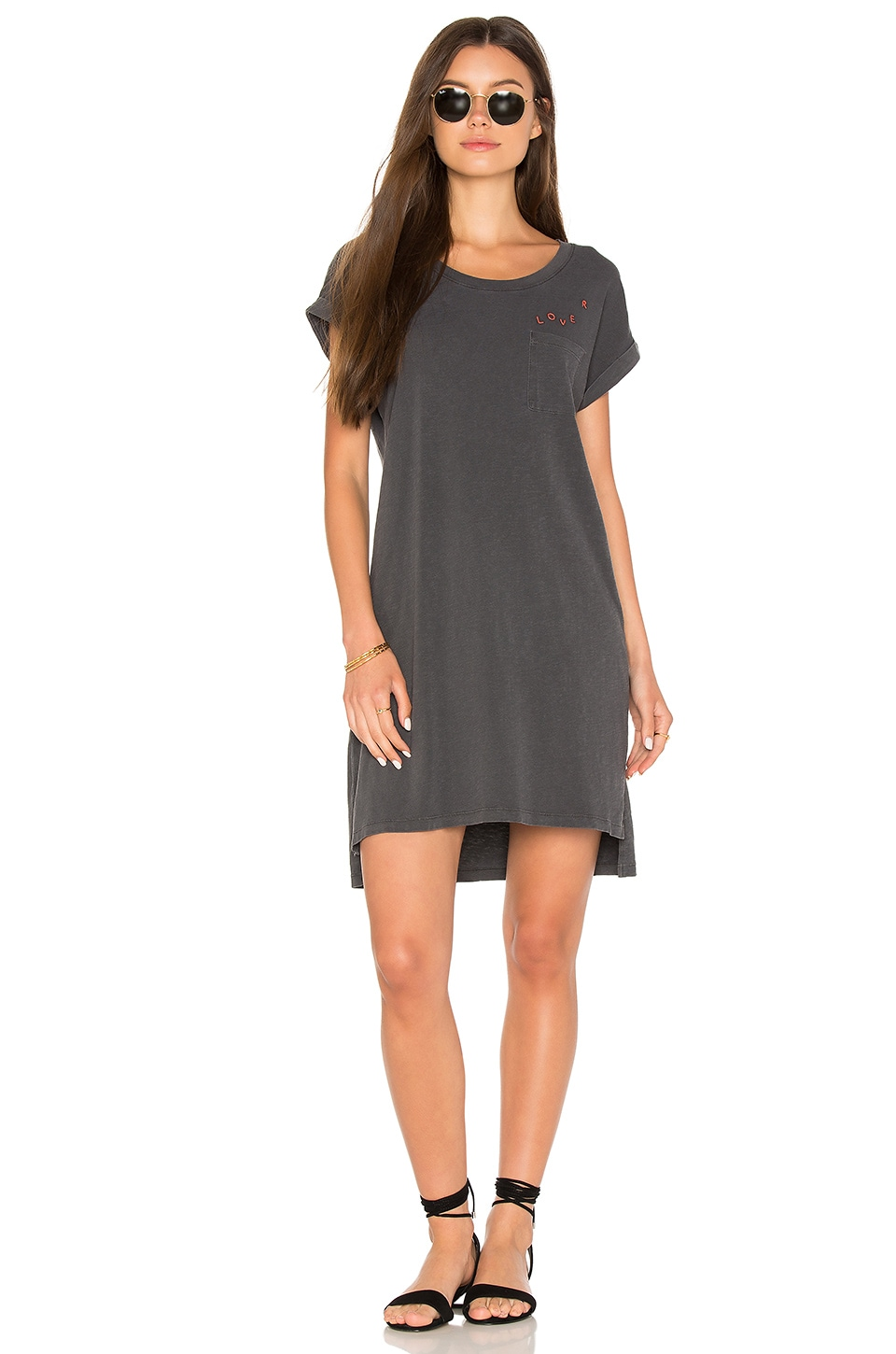 Lover Rolled Sleeve Dress by Sundry