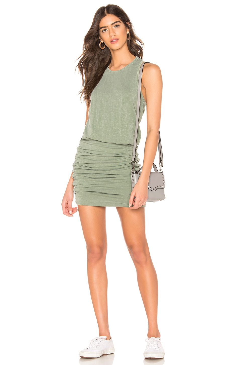 SUNDRY Tank Dress in Pigment Loden