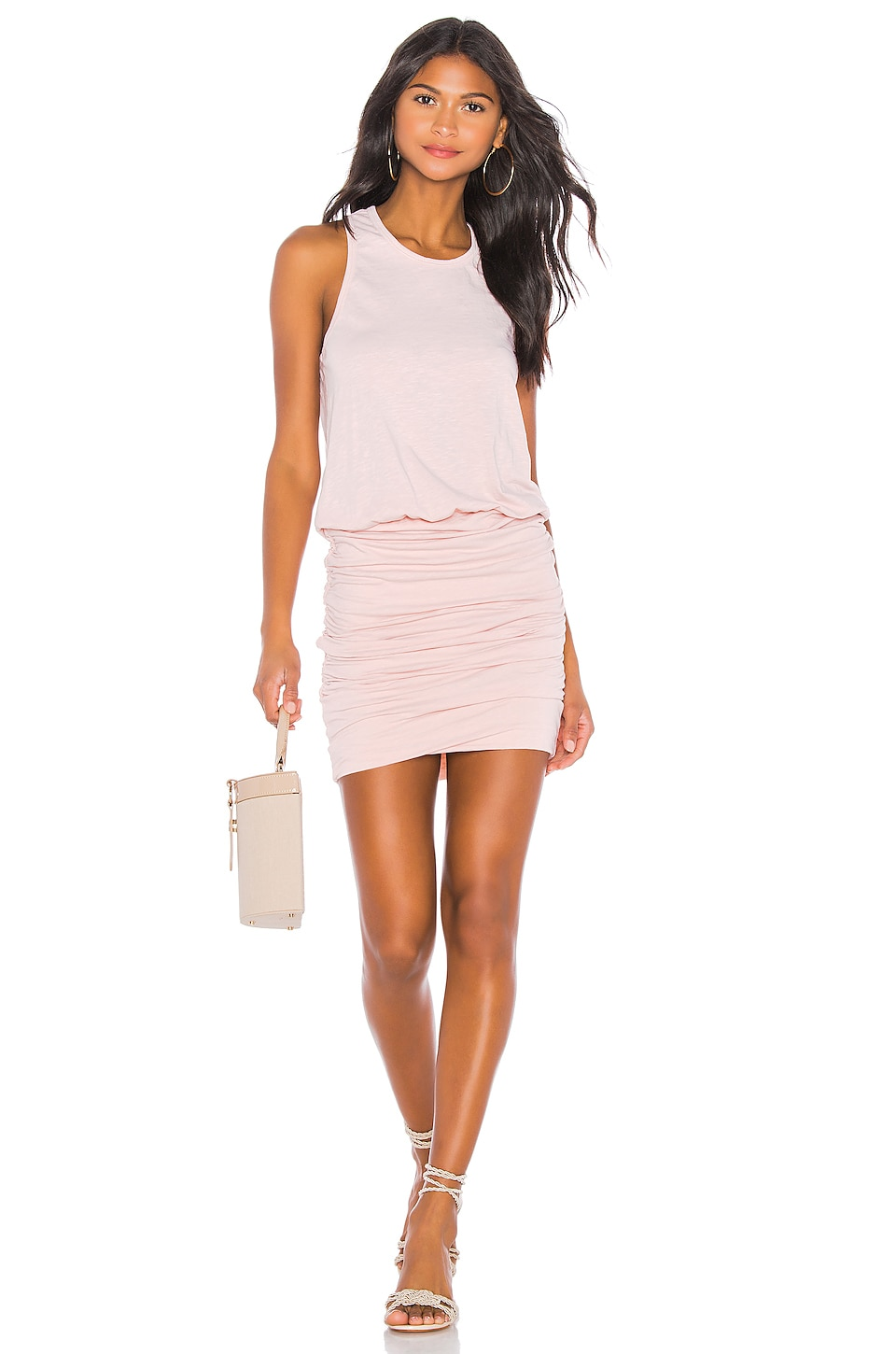 SUNDRY Tank Dress in Blush