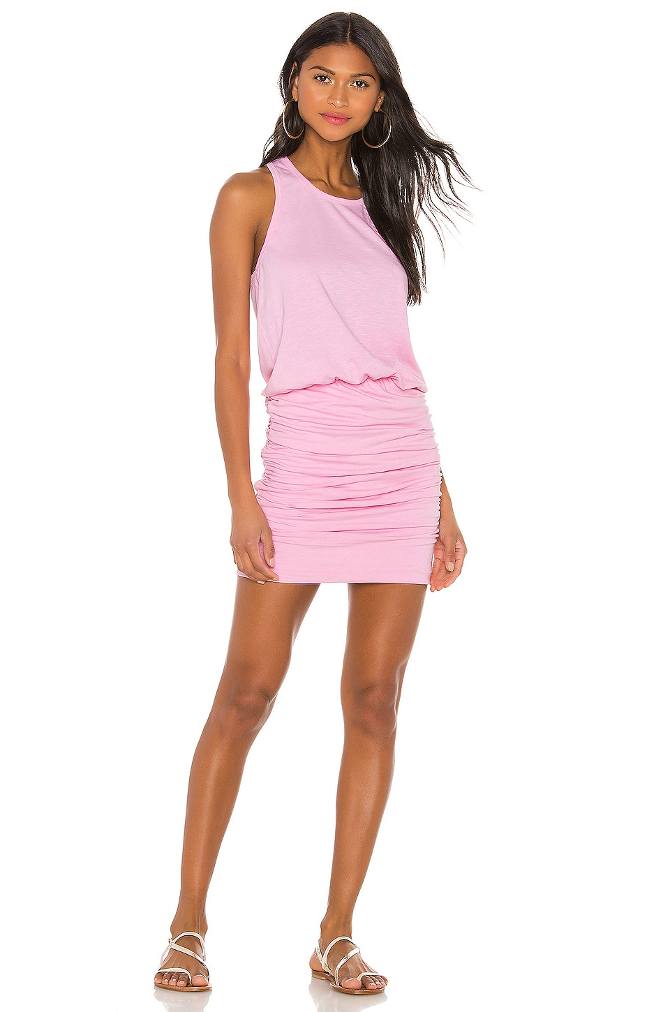 SUNDRY Sleeveless Dress in Bubblegum