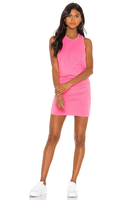 SUNDRY Sleeveless Dress in Pigment Neon Pink