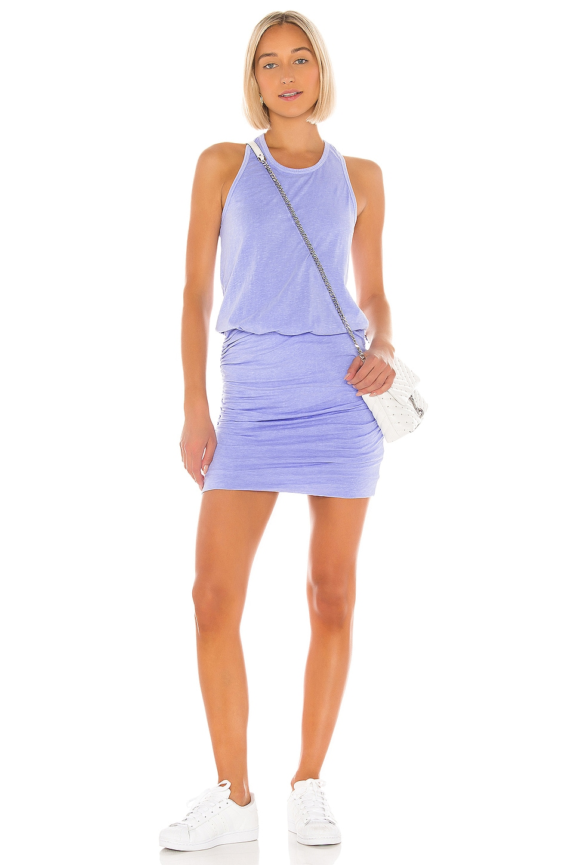 SUNDRY Sleeveless Dress in Pigment Azure