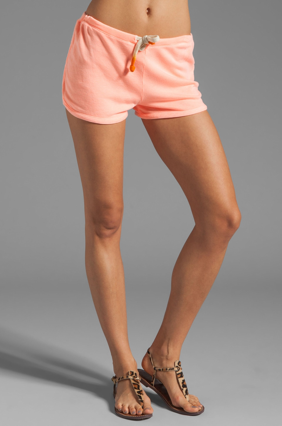 SUNDRY Light Terry Shorts in Neon Heat