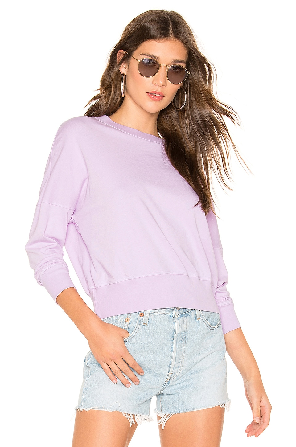SUNDRY Lightweight Sweater in Lavender