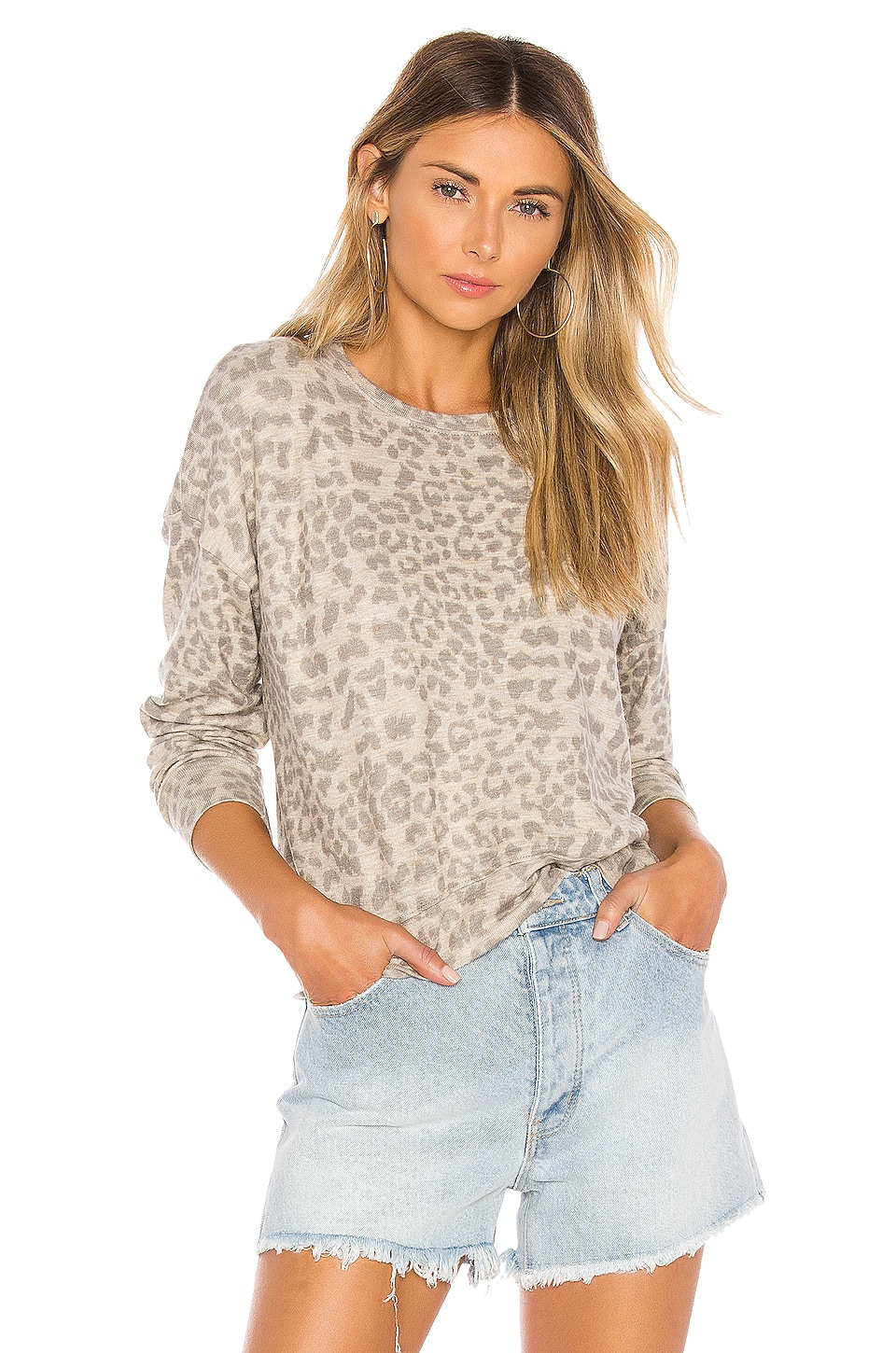 SUNDRY Drapey Sweater in Sand