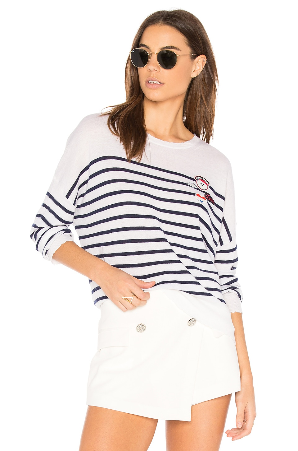 Patches Crew Neck Pullover by SUNDRY