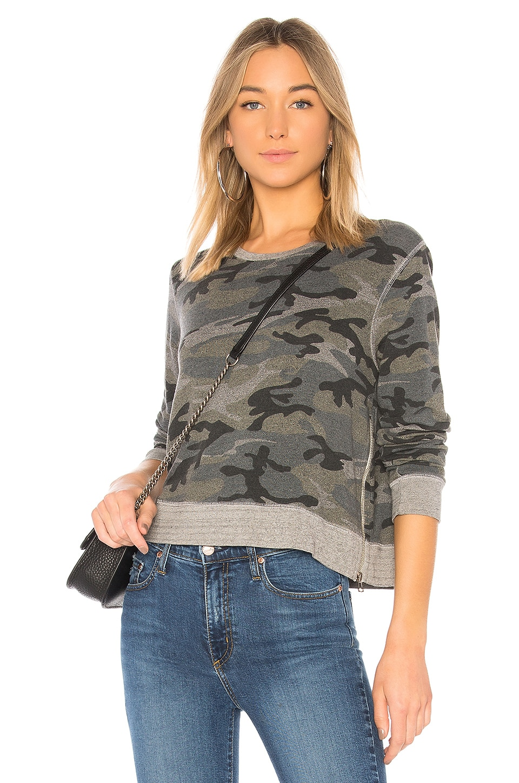 Camo Double Zip Sweatshirt