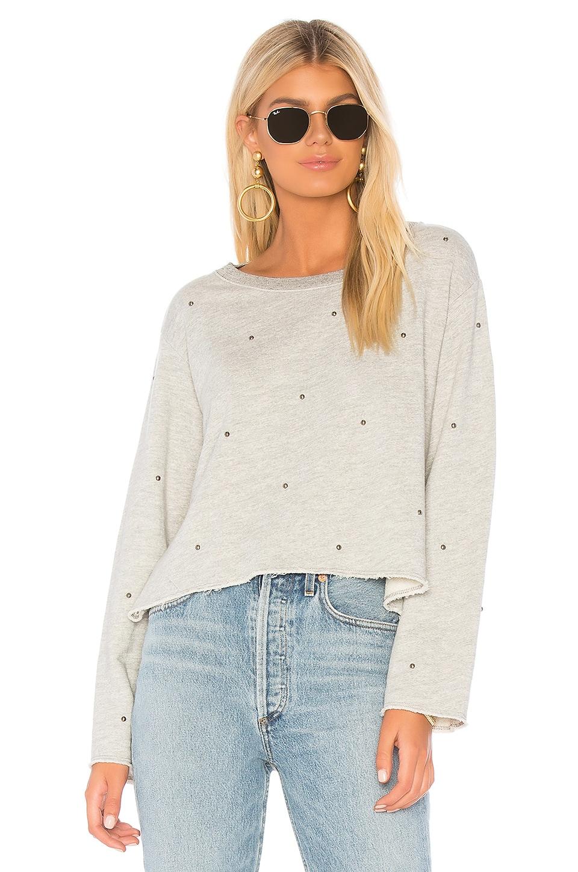 Boxy Sweatshirt With Studs
