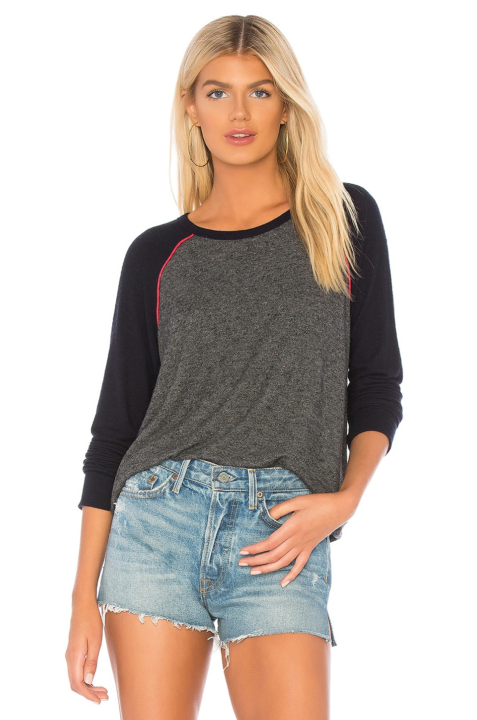 Colorblock Piping Sweater