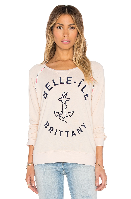 SUNDRY Belle Ile Sweatshirt in Sand