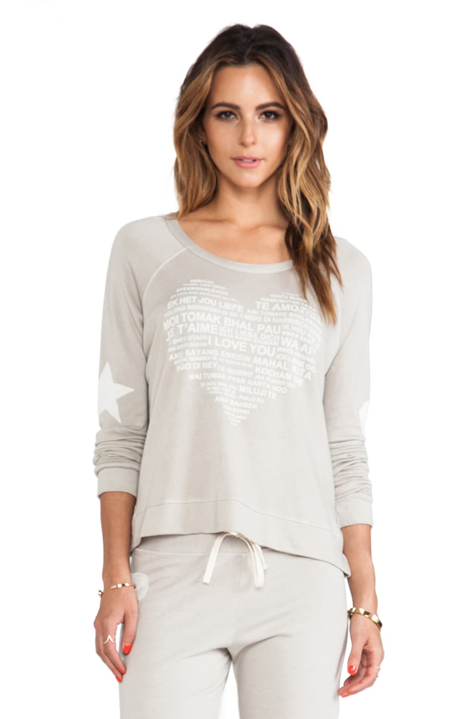 SUNDRY Love Cropped Pullover in Shade