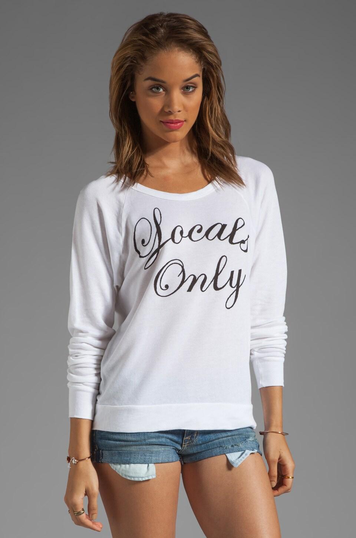 SUNDRY Locals Only Basic Sweatshirt in White