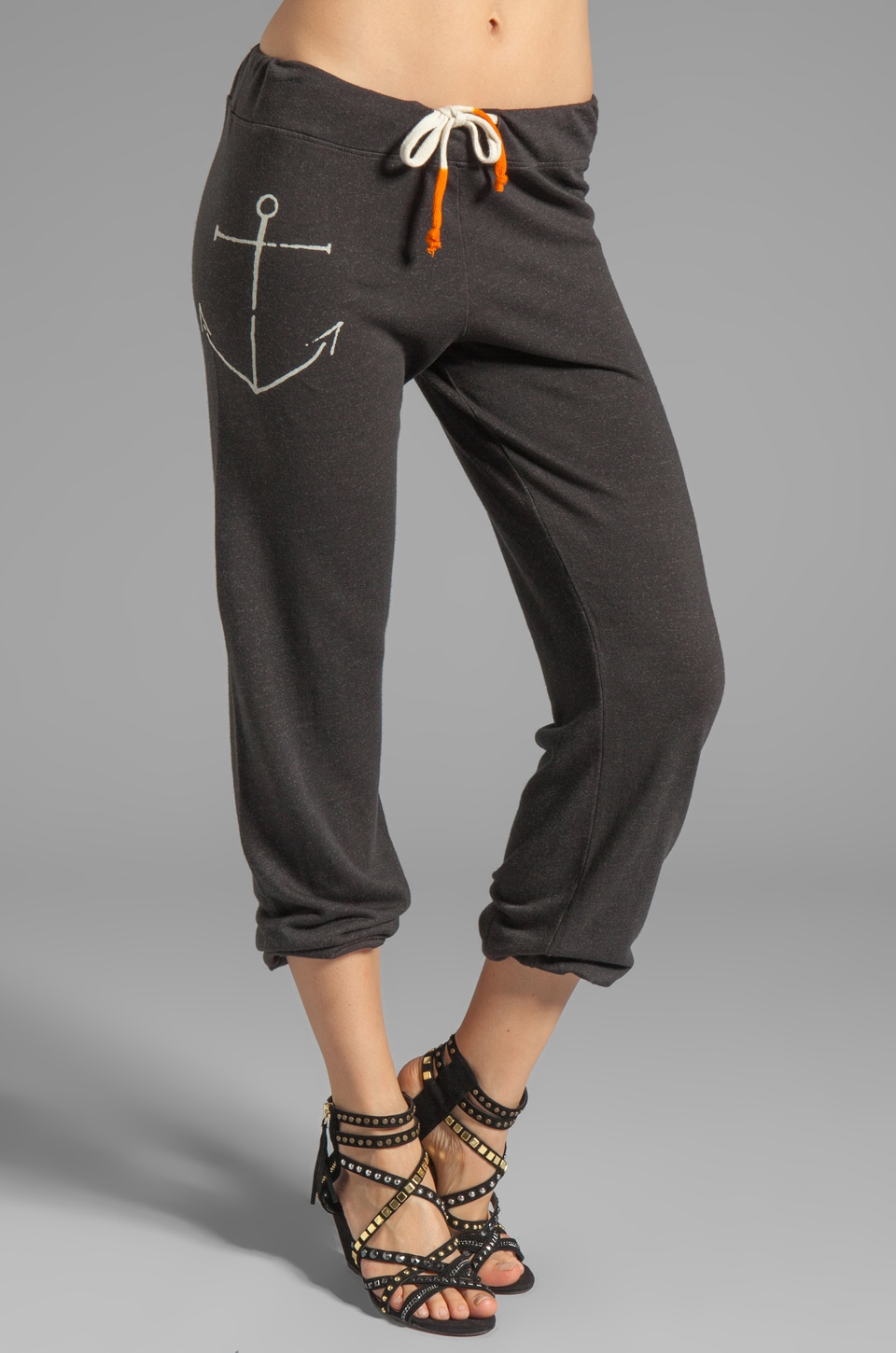 SUNDRY La Marina Sweatpants in Old Black