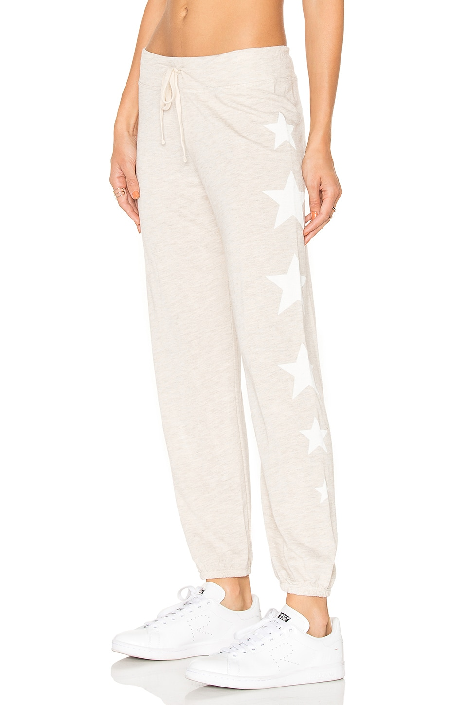 SUNDRY Side Stars Classic Sweatpants in Heather Oatmeal