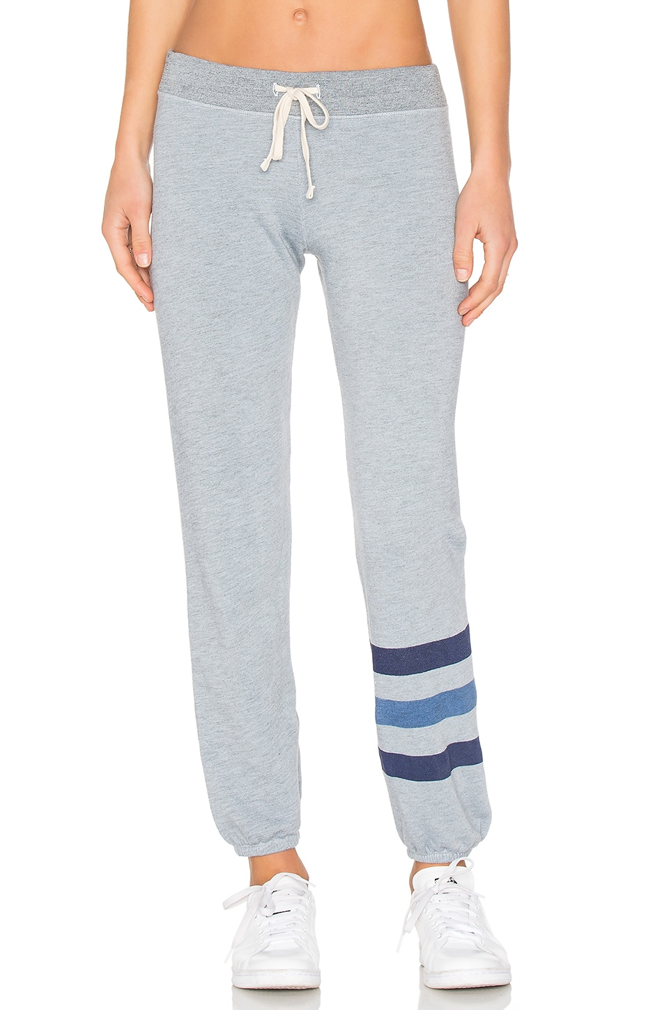 SUNDRY Stripe Sweatpant in Heather Chambray