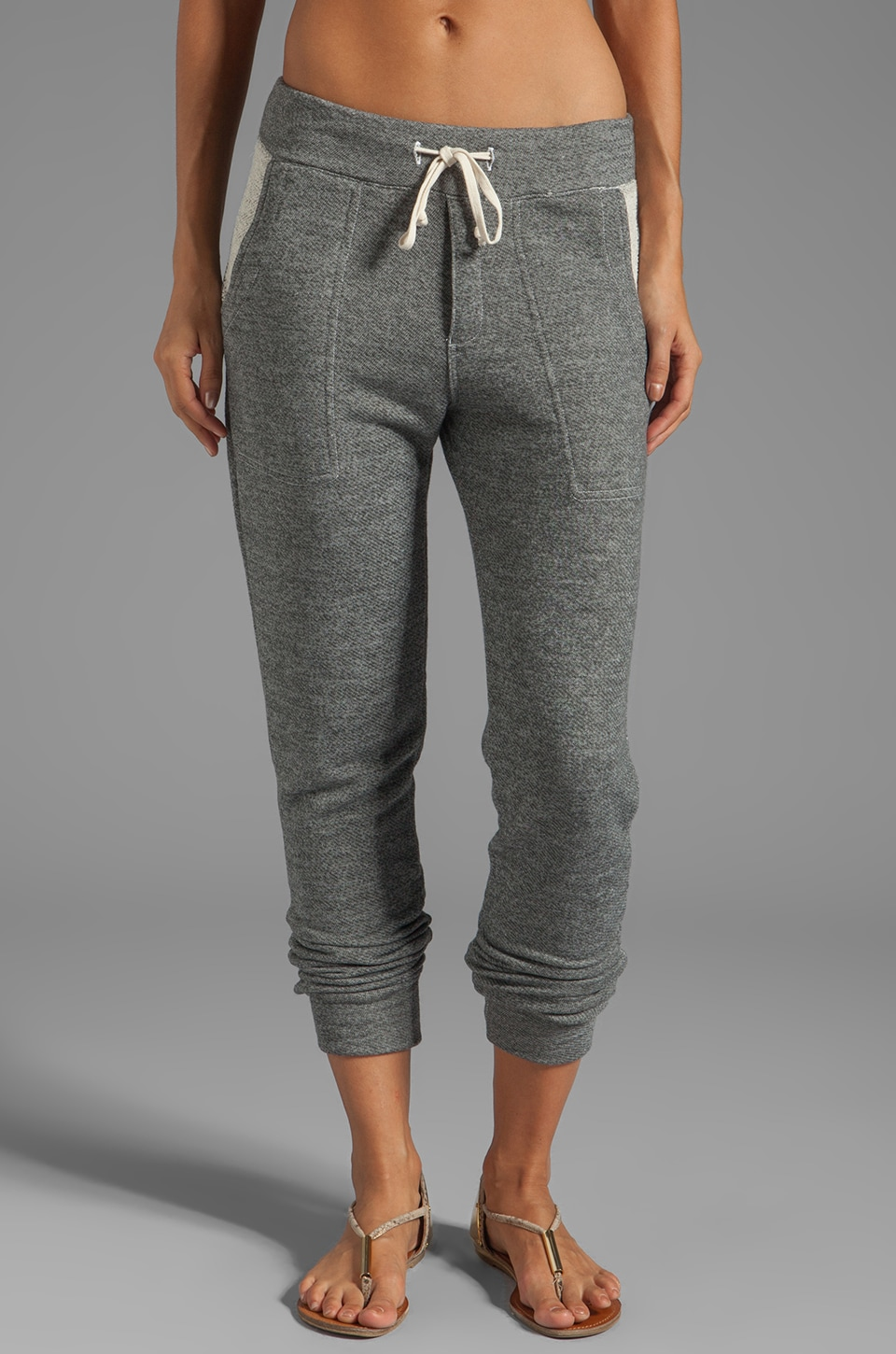 SUNDRY Slouchy Sweat Pants in Heather Grey