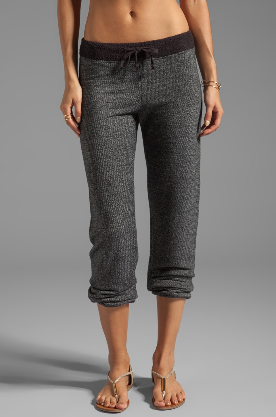 SUNDRY Basic Sweatpants in Heather Black