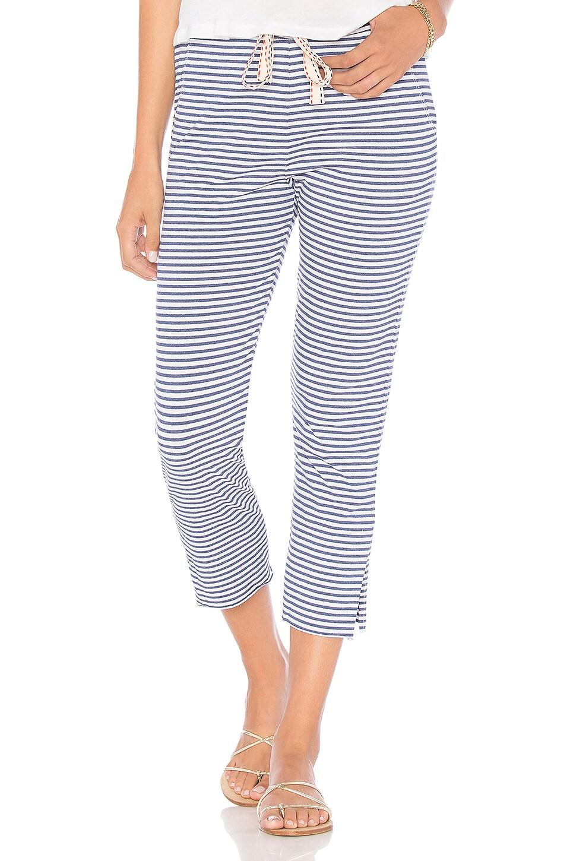 Stripe Cropped Sweatpants