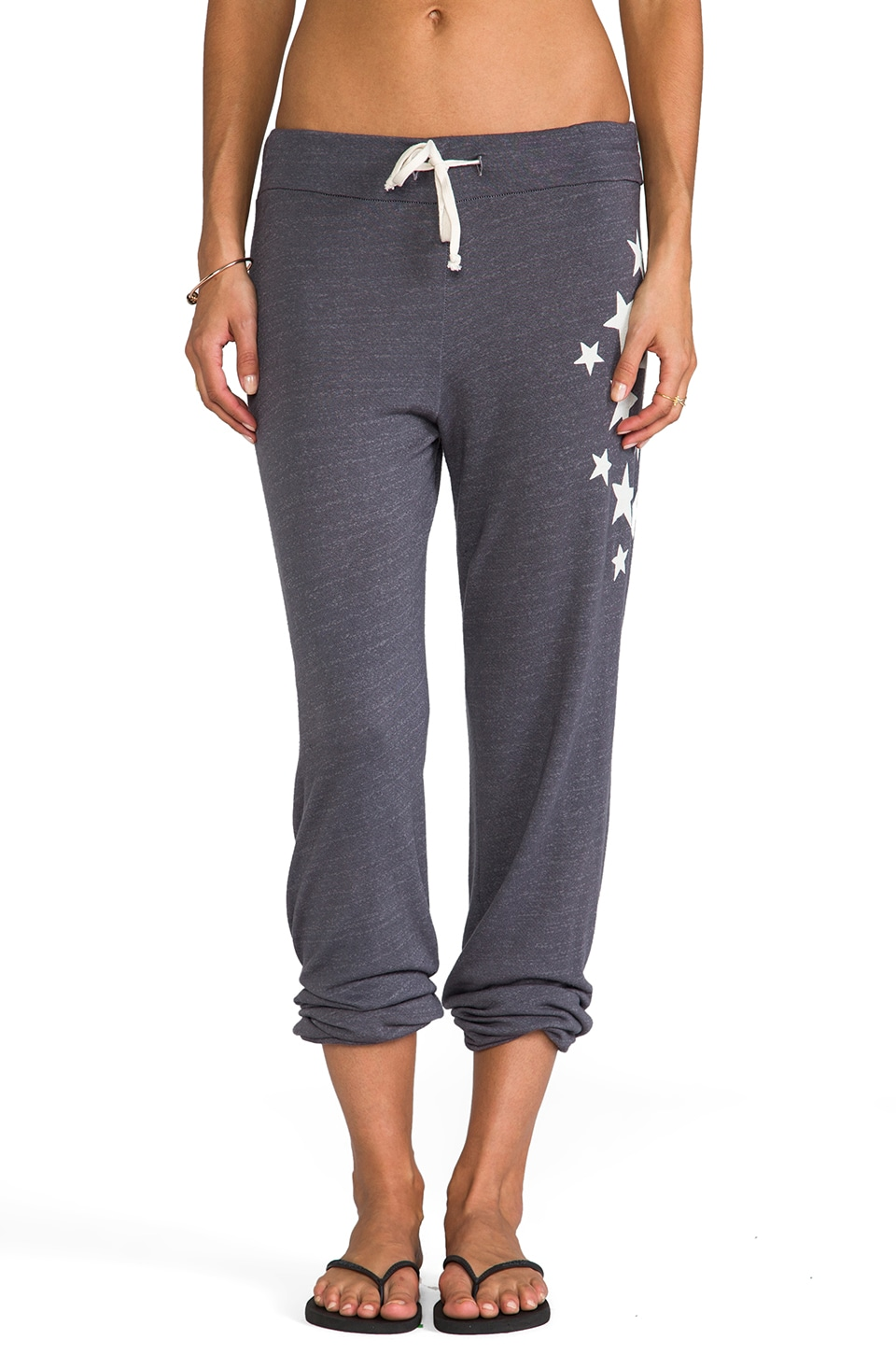 SUNDRY Side Stars Classic Sweatpant in Heather Charcoal