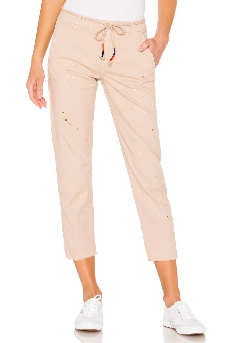 SUNDRY Paint Splatter La Fete Pant in Almond