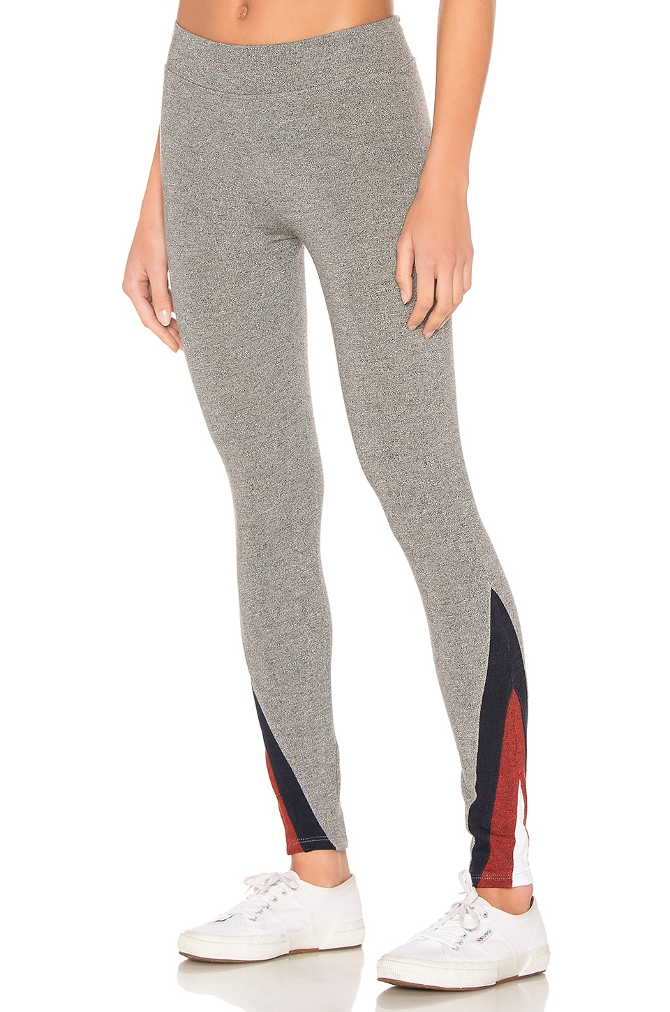 SUNDRY Color Inset Yoga Legging in Heather Gray