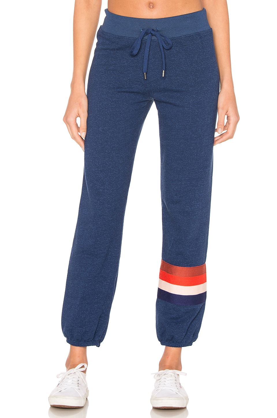 SUNDRY Multi Stripe Basic Sweatpant in Gitane
