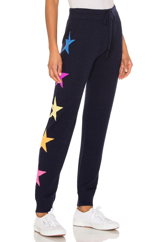 SUNDRY Side Stars Cozy Cashmere Blend Sweatpants in Navy