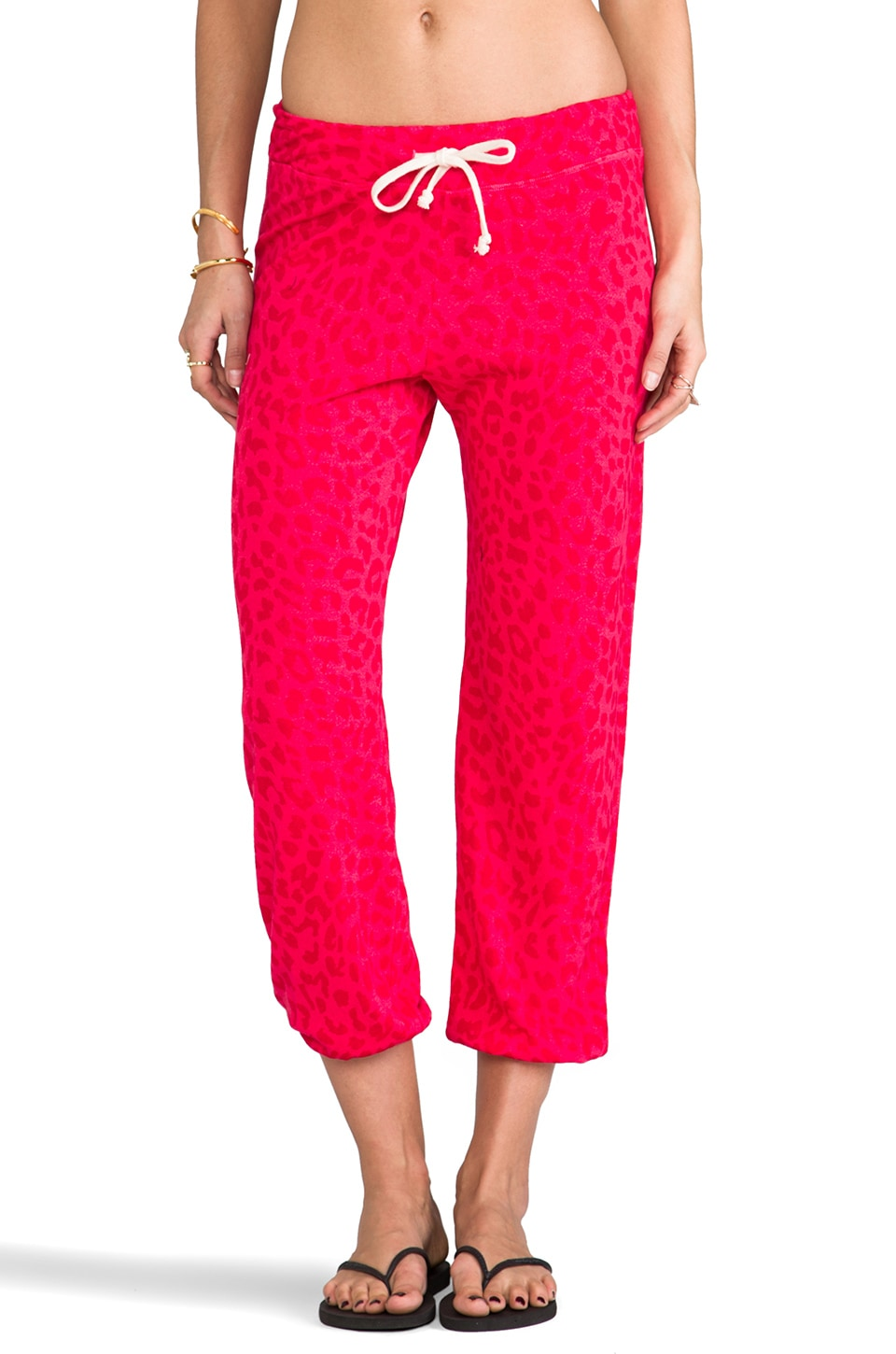 SUNDRY Printed Classic Sweatpants in Hibiscus