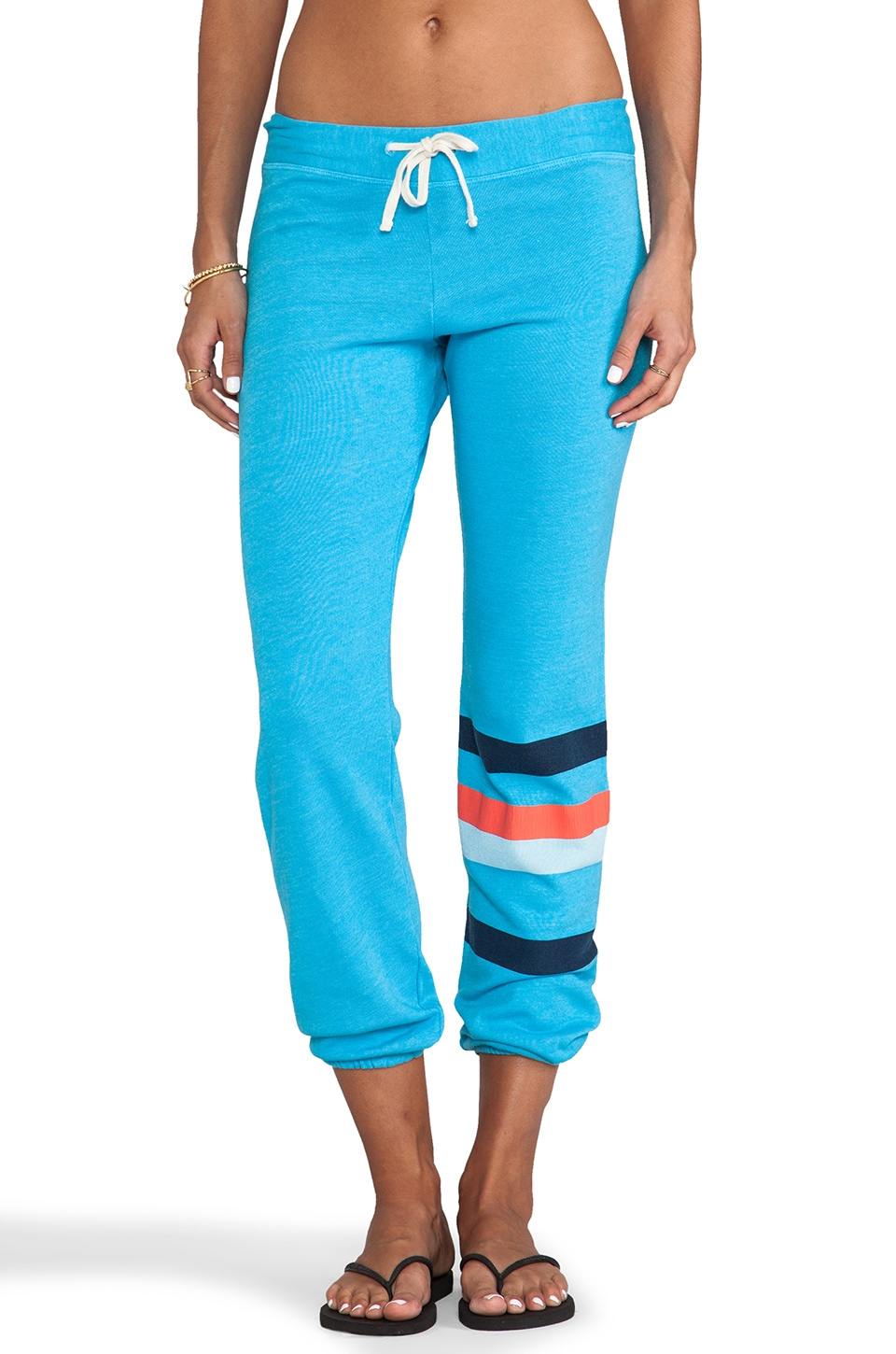 SUNDRY Stripes Sweatpant in Azure