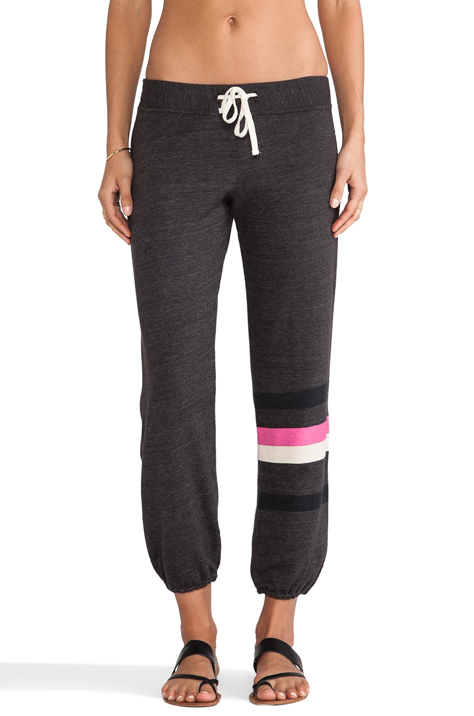 SUNDRY Stripes Sweatpant in Old Black