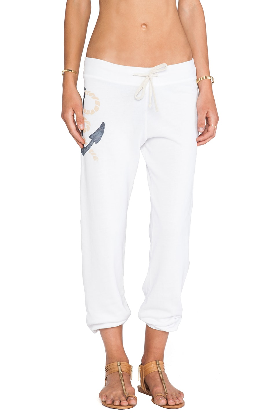 SUNDRY Ancre Sweatpant in White