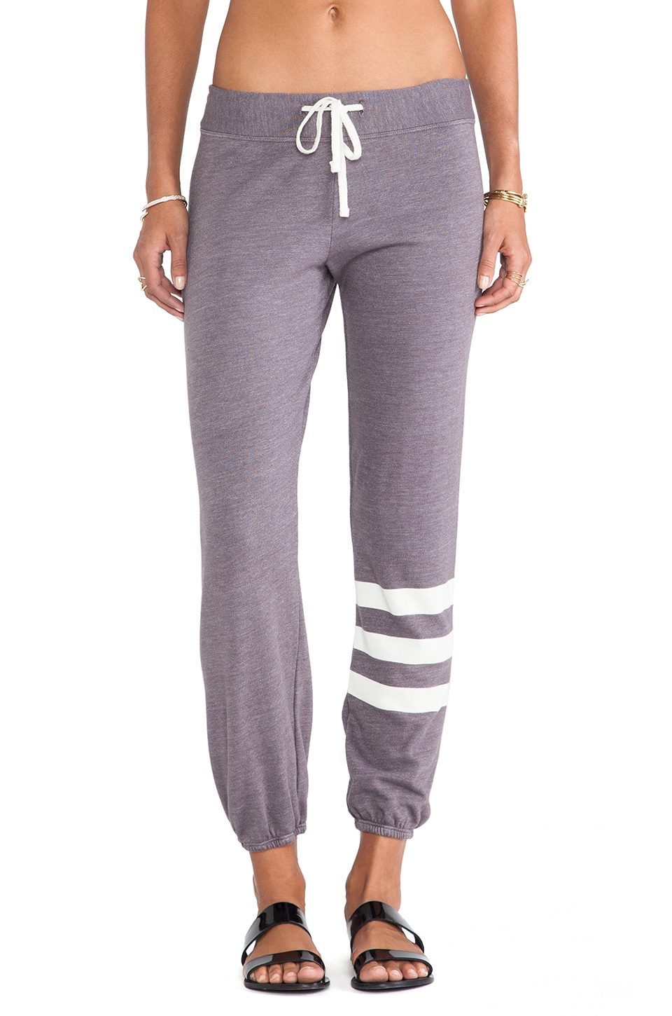 SUNDRY Stripes Classic Sweatpant in Sunset Grey