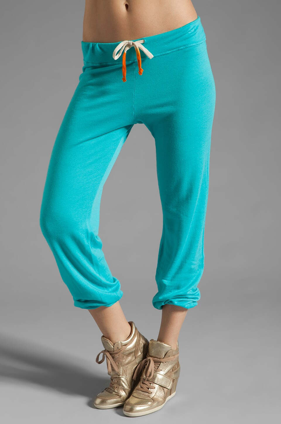 SUNDRY Light Terry Classic Sweatpant in Turquoise
