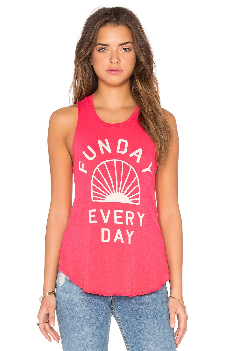 SUNDRY Funday Tank in Hibiscus