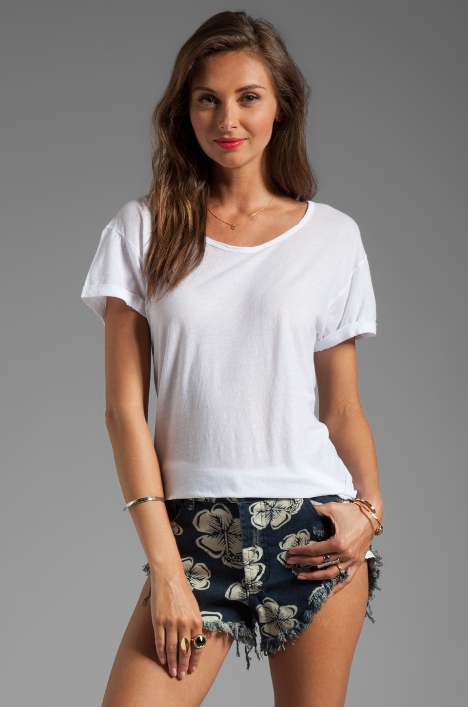 SUNDRY Ex Boyfriend Tee in White