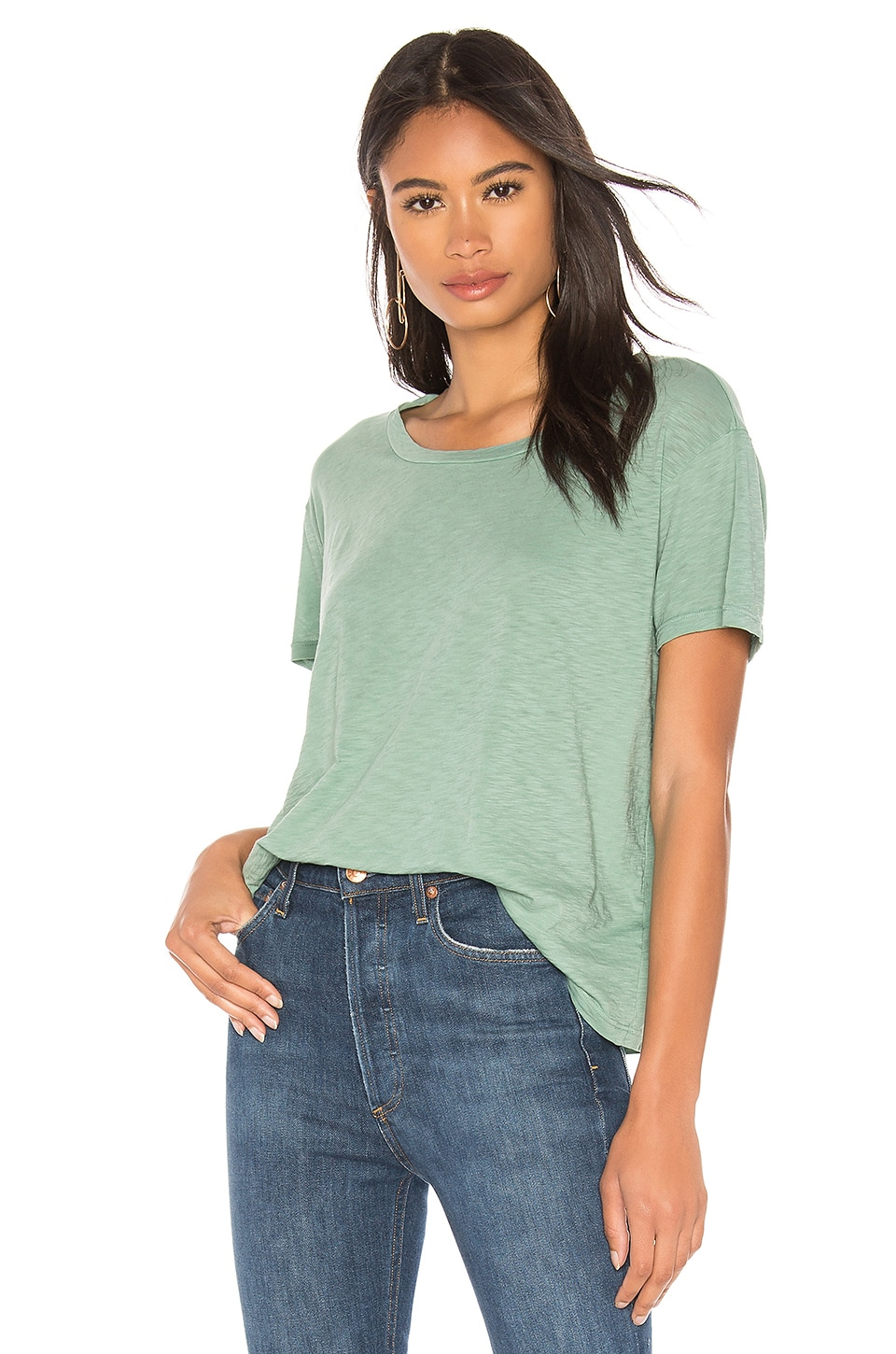 SUNDRY Vintage Tee in Agave