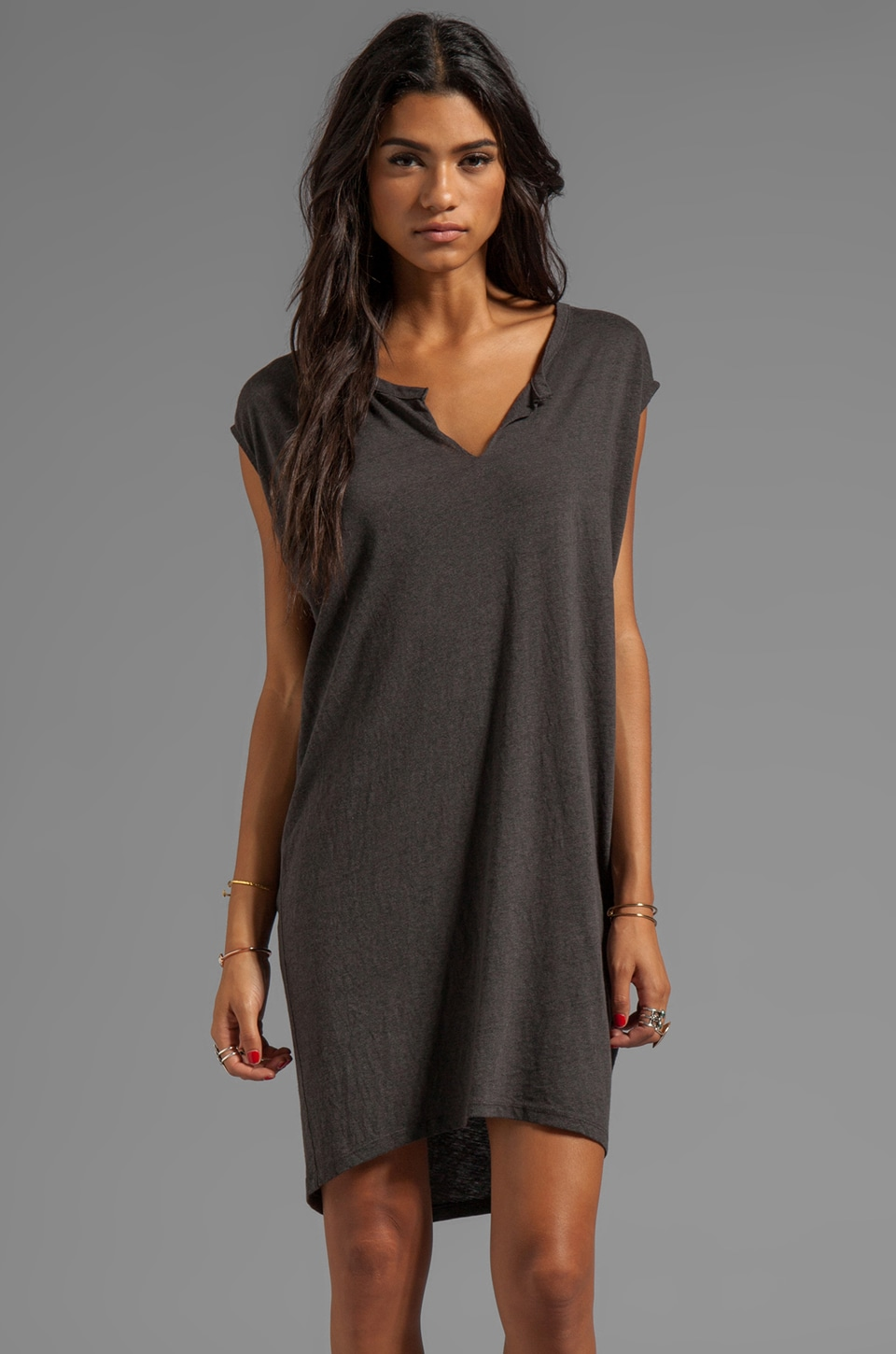 SUNDRY Tunic Dress in Old Black