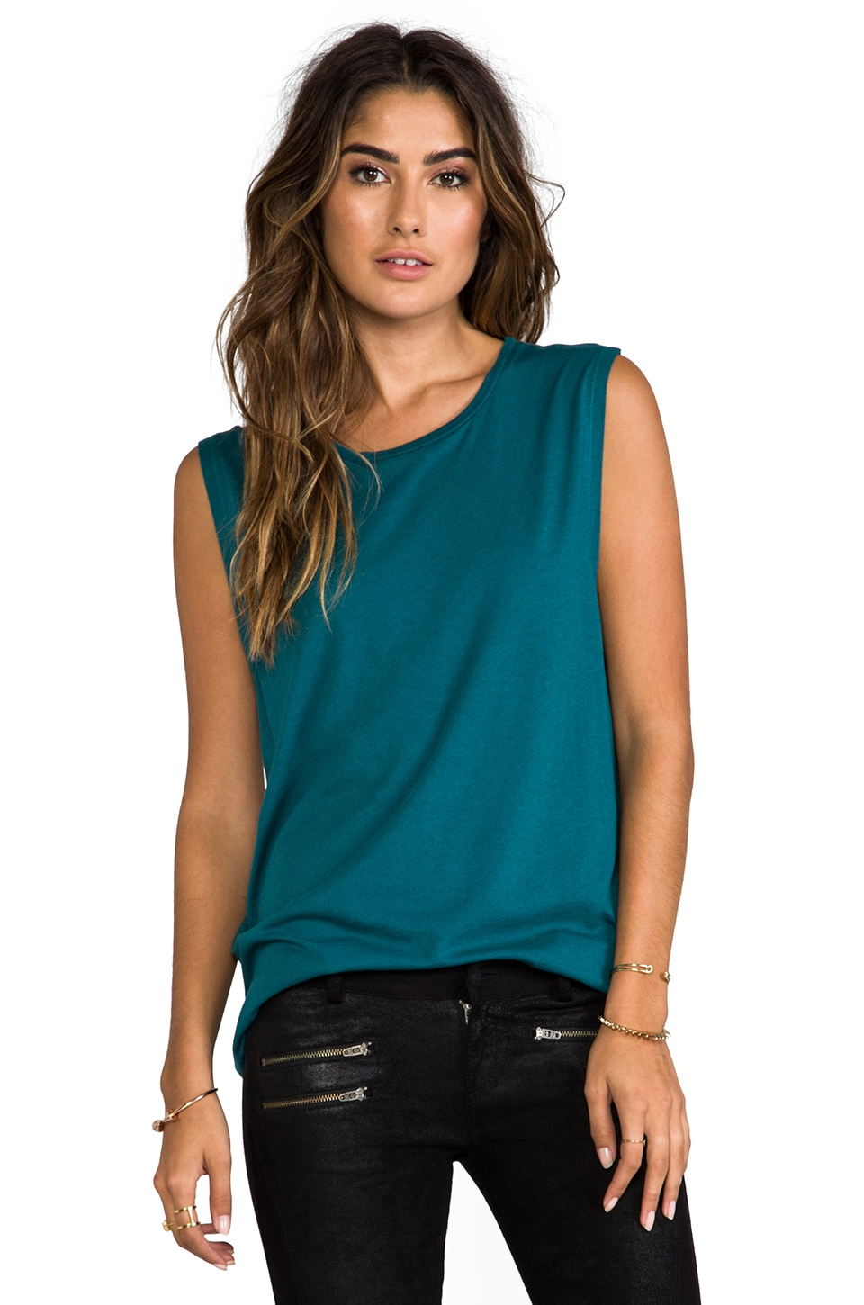 SUNDRY Muscle T in Teal