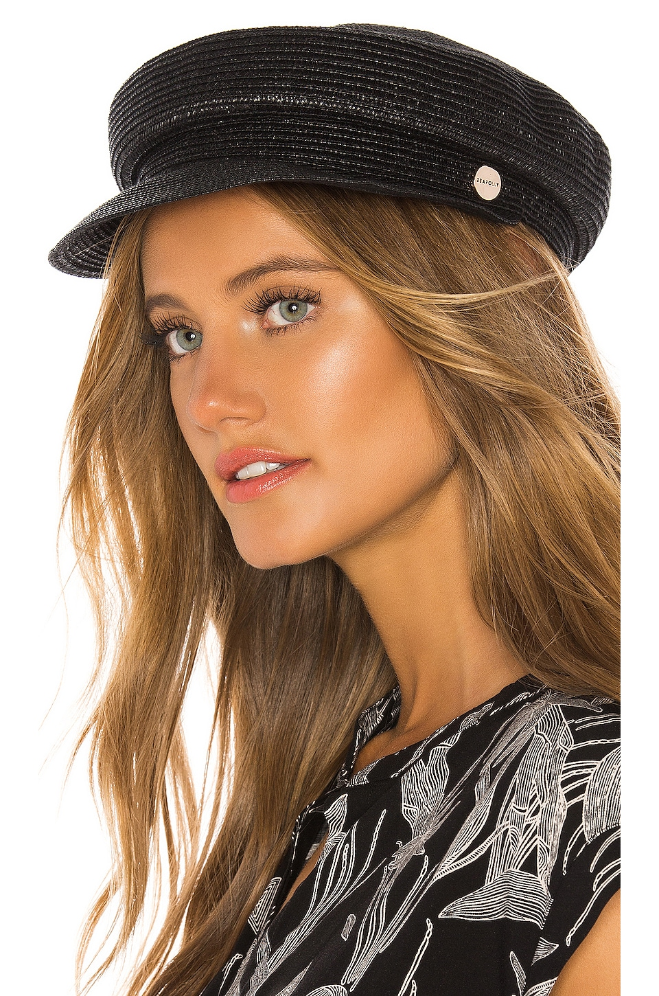 Seafolly Shady Lady Sailor Hat in Black