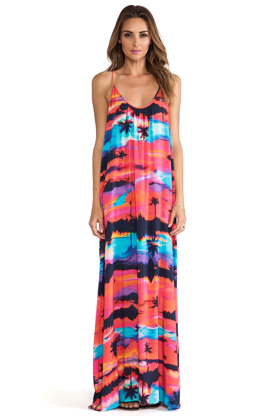 Seafolly Haiti Maxi Dress in Bright Violet