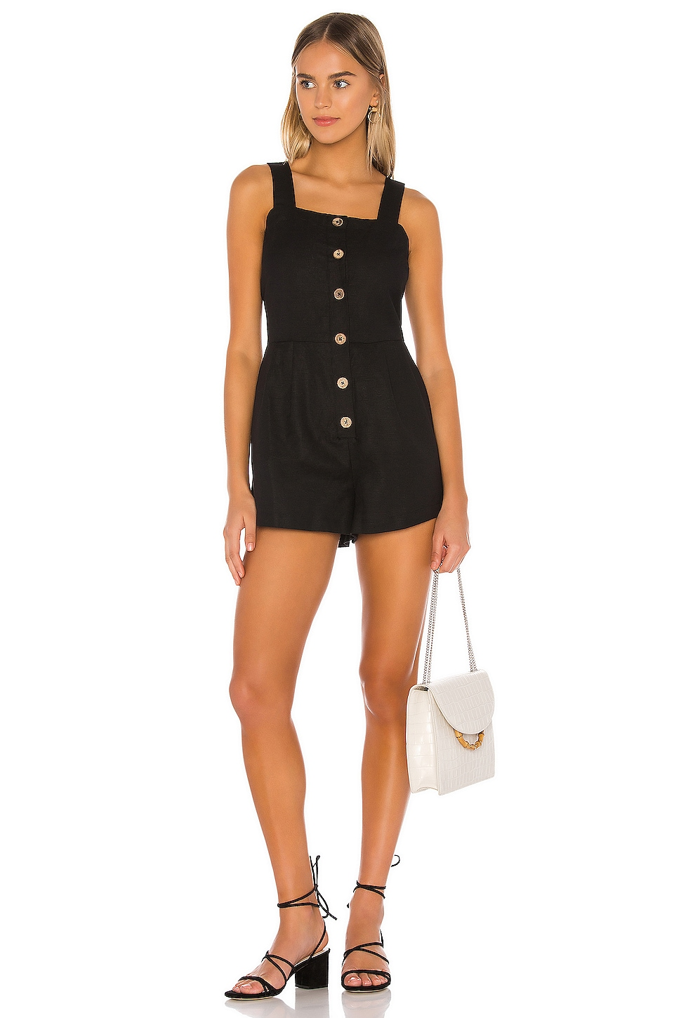 Seafolly Button Up Romper in Black