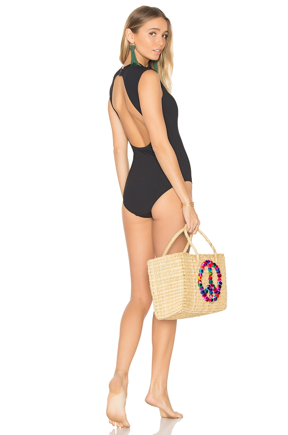 Seafolly Cap Sleeve One Piece в цвете Черный