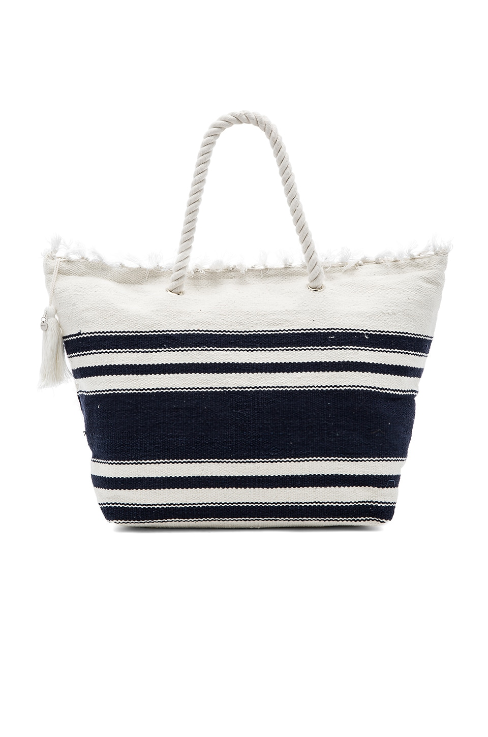 Seafolly Carried Away Riviera Tote in Indigo & White