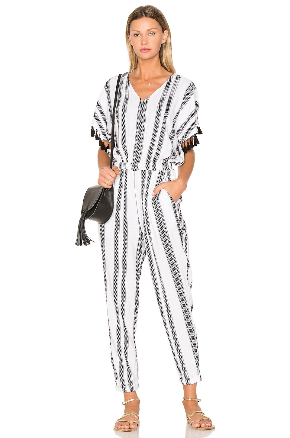 Seafolly Jacquard Stripe Jumpsuit in White