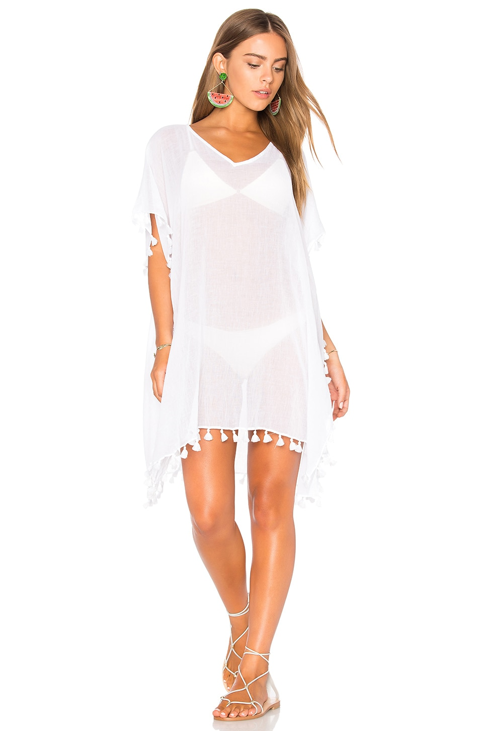 Seafolly Amnesia Kaftan in White