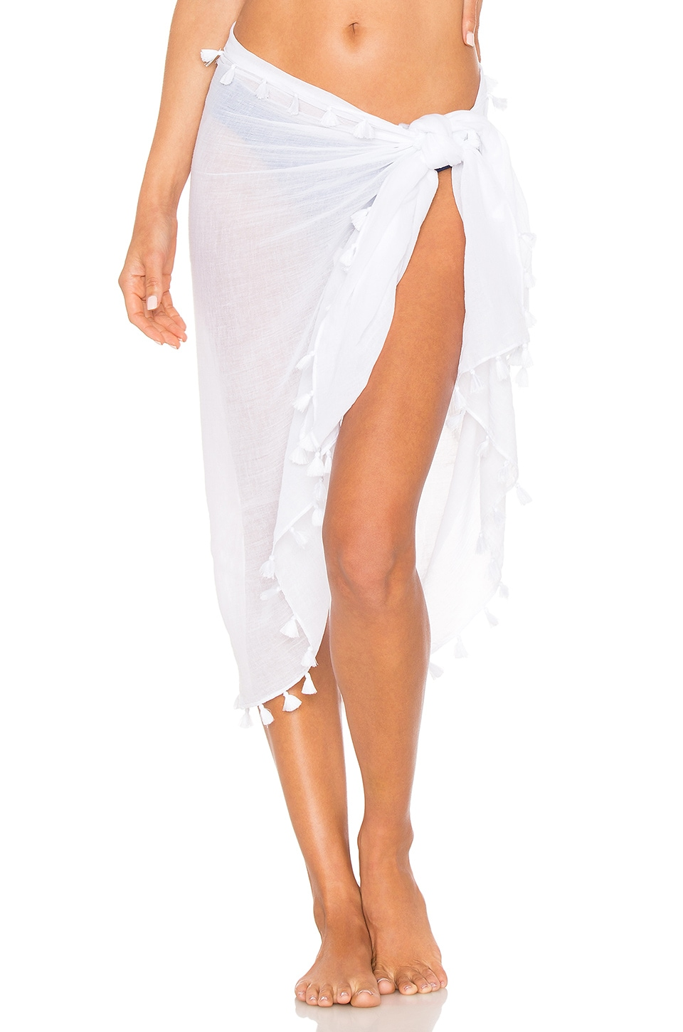 Seafolly Pom Pom Sarong in White