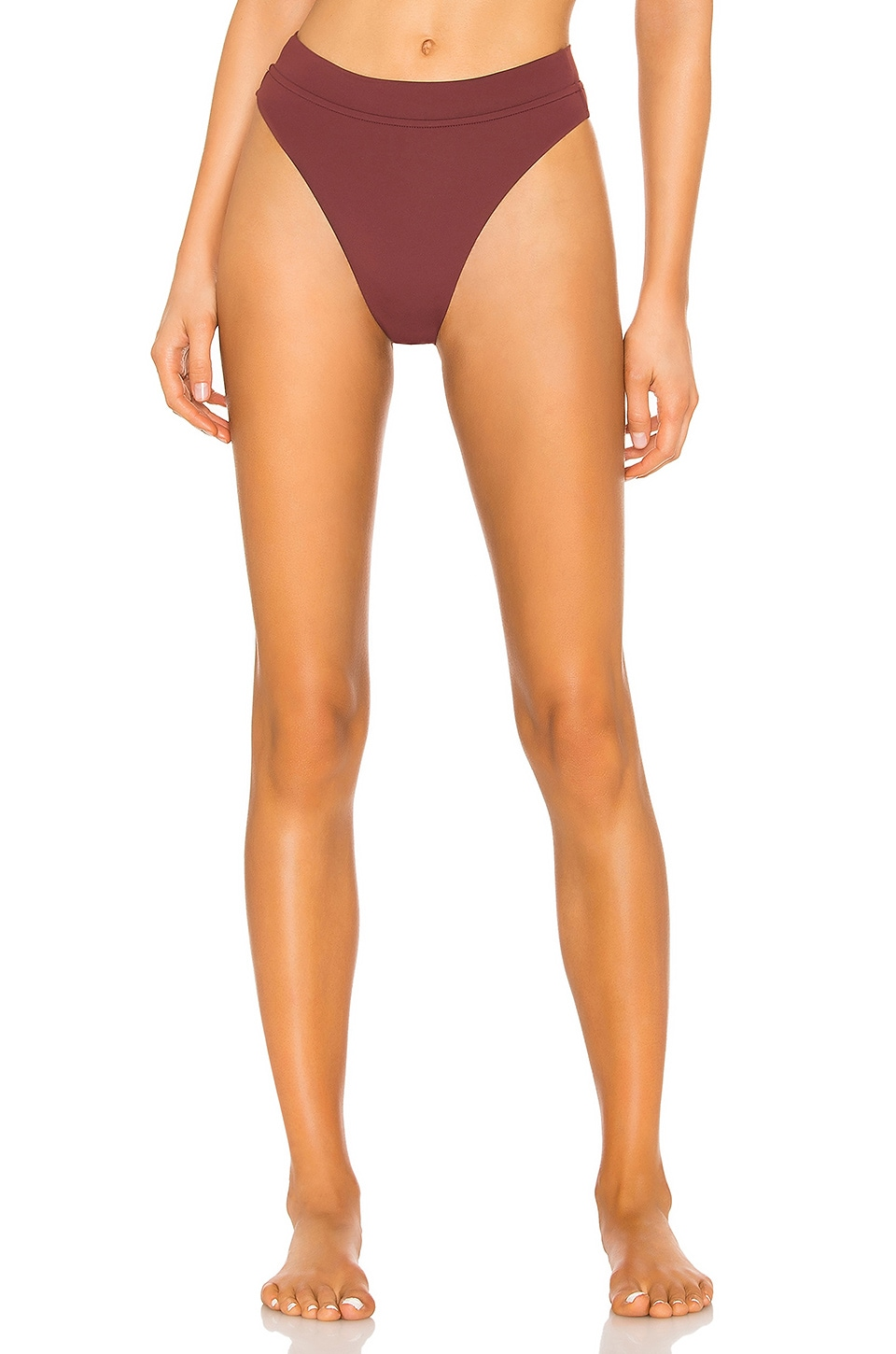 Seafolly Active Hi Rise Bottom in Plum